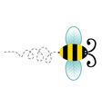 Cute bee cartoon character