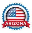 Arizona and USA flag badge vector image