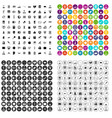 100 researcher science icons set variant vector image vector image