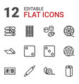 12 roll icons vector image vector image