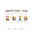 2019 calendar templatecalendar set of 12 vector image