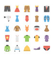 a icons set of fashion in flat design vector image vector image