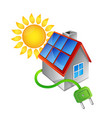 alternative energy sources for home vector image vector image