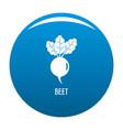 beet icon blue vector image vector image