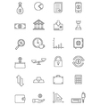 black finance icons set vector image vector image