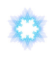 blue guilloche rosette or spirograph background vector image vector image