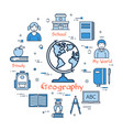 blue round concept - geography vector image vector image