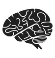 brain icon simple style vector image vector image