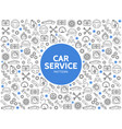 car service line icons pattern vector image