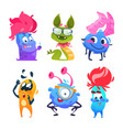 cartoon monsters halloween gremlins funny vector image vector image