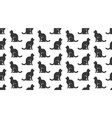 cats seamless pattern with flat icons vector image vector image