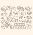 chocolate drawn engraved pictures vector image vector image