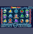 christmas slot game ui interface and icons in vector image vector image