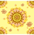 Circular seamless pattern with autumn leaves vector image vector image