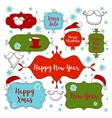collection christmas ornaments and decorative vector image vector image