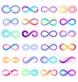 colorful endless sign infinity symbol limitless vector image