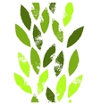 Colorful green leaves on white grunge seamless vector image