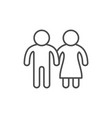 couple line icon and love concept vector image
