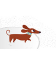 cute dachshund funny portrait of a dog vector image vector image