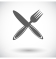 Cutlery single flat icon vector image vector image