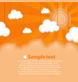 decoration clouds background vector image