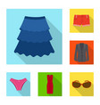 design of woman and clothing sign set of vector image