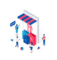 discount sale shopping isometric concept vector image vector image