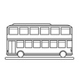 double decker bus sideview icon image vector image vector image