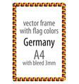 flag v10 germany vector image