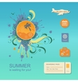 Flat design style modern concept of planning a vector image vector image