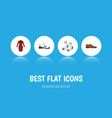 flat icon clothes set of sneakers male footware vector image