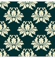 Floral seamless pattern with light green flowers vector image vector image