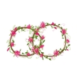 Floral wedding rings for your design vector image vector image