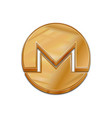 golden monero coin trendy 3d style icon vector image