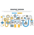 graphic design process vector image