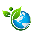 Green Earth logo vector image vector image