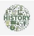 History green round symbol vector image vector image