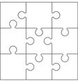 jigsaw set black vector image vector image
