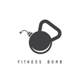 kettlebell bomb fitness concept design template vector image vector image