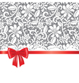 Lace red ribbon and bow