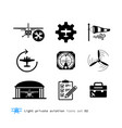 light private aviation icons set vector image