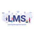 lms learning management system concept with big vector image vector image