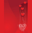 love is a balloon vector image vector image