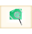 Magnifying glass with sticker vector image