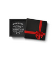 merry christmas design opened black empty gift vector image vector image