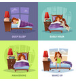 morning awakening 2x2 design concept vector image