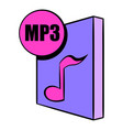 mp3 file icon cartoon vector image vector image