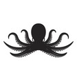 octopus isolated on white background design vector image