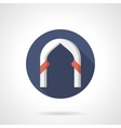 Ogee arch round flat color icon vector image vector image