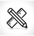 pencil symbol icon design vector image vector image